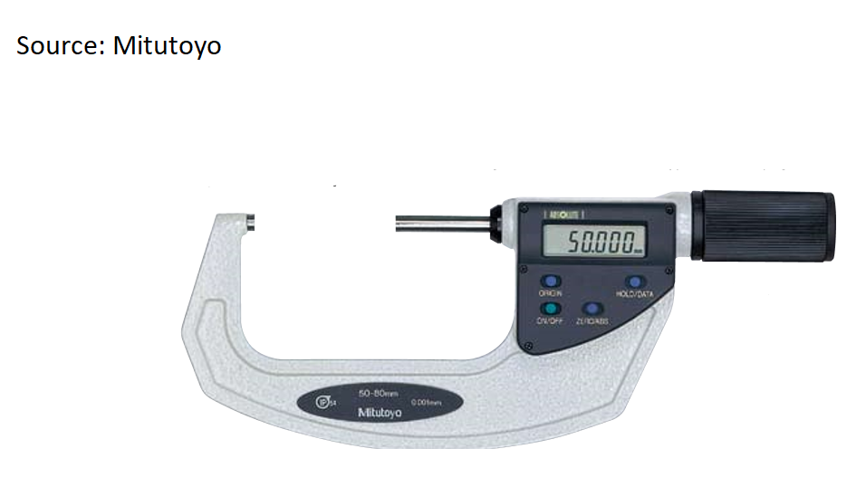 micrometer 50-75 mm by mitutoyo