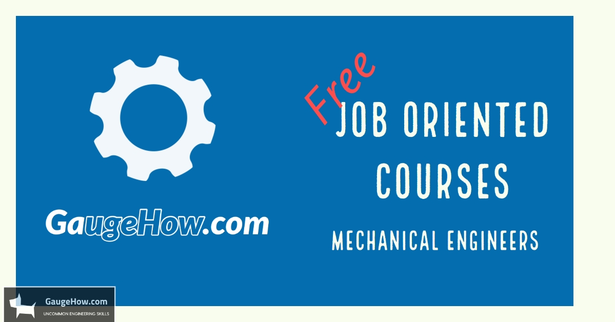 mechanical job oriented courses for free