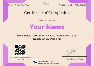 3d printing certificate course