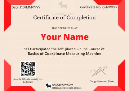 certificate course of cmm