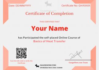 heat transfer certificate course