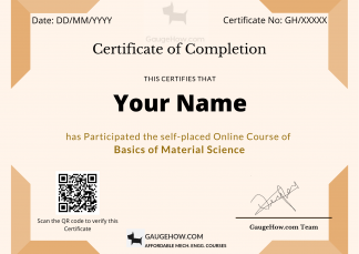 material science certificate course