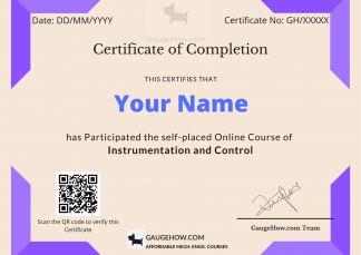 instrumentation and control certificate course