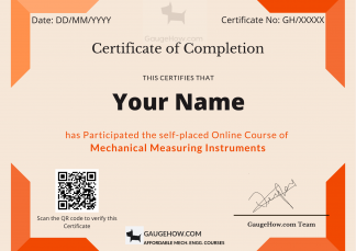 mechanical measuring instruments course certificate