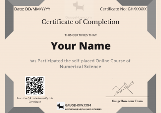 numerical science certificate course