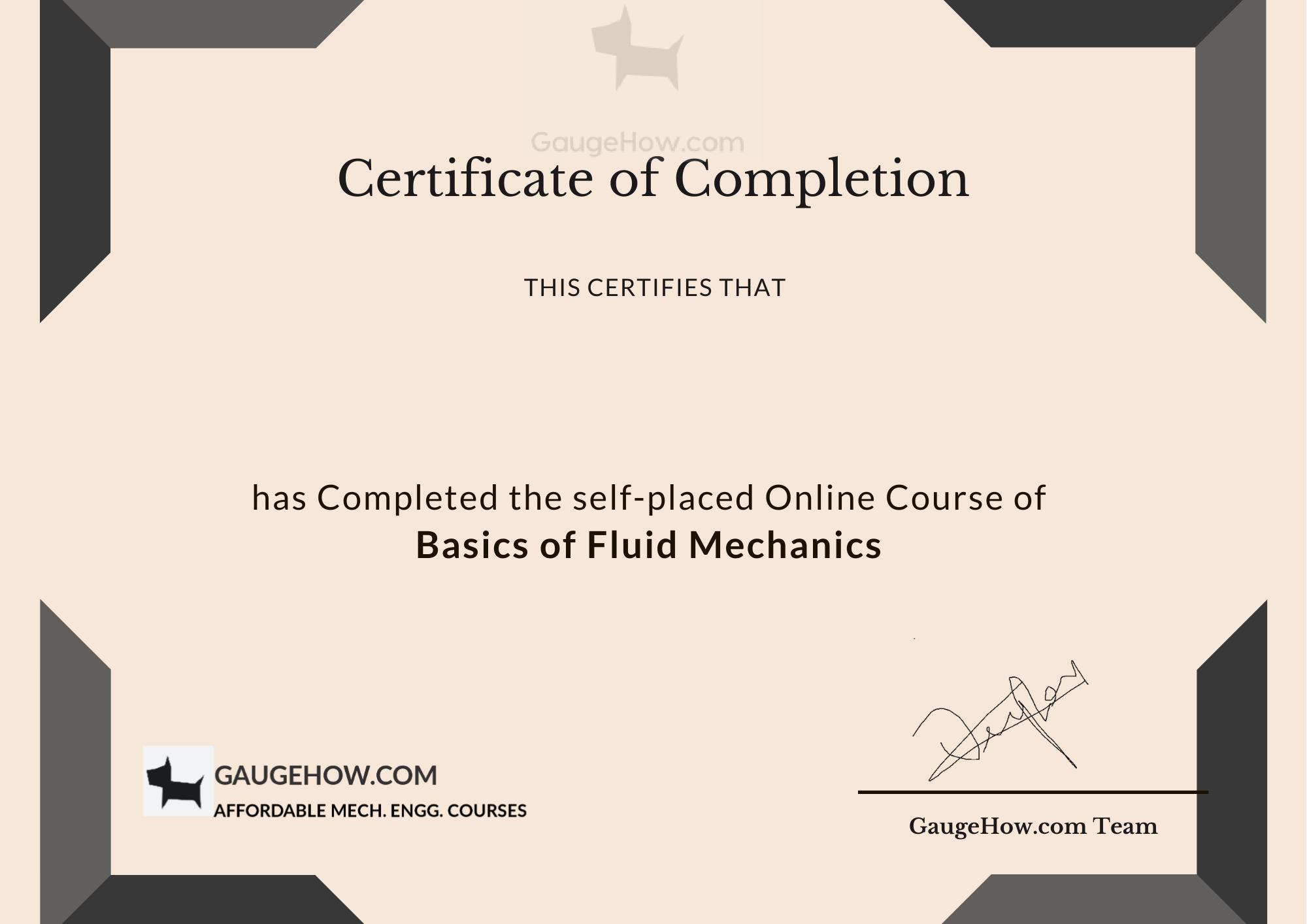 certificate fm template